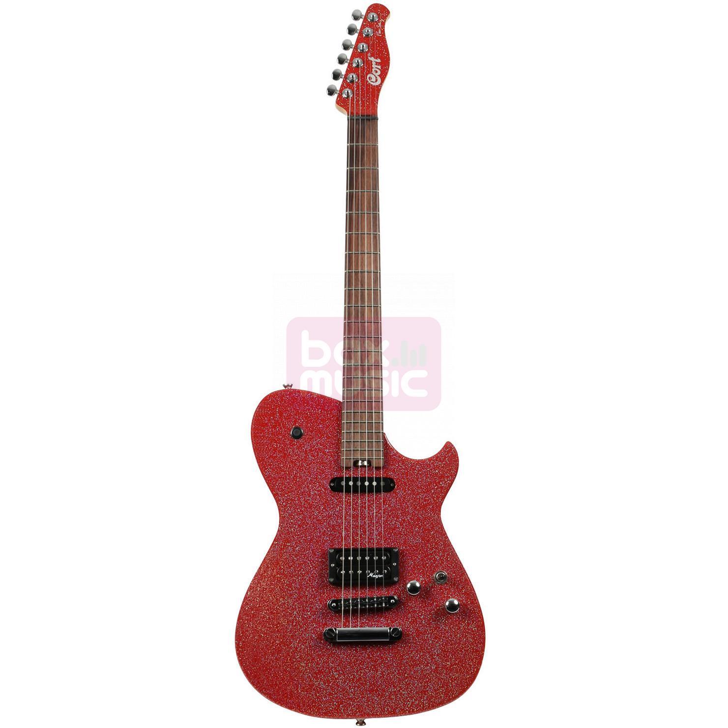 Cort MBC-1 RS Matthew Bellamy Red Sparkle elektrische gitaar
