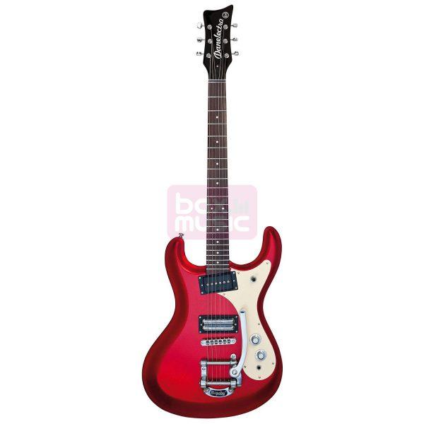Danelectro 64 Metallic Red elektrische gitaar