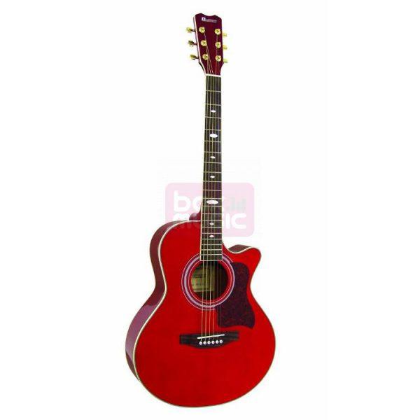 Dimavery JH-500 western gitaar rood