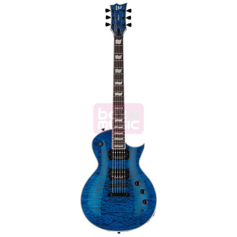 ESP LTD Deluxe EC-1000 Piezo See Thru Blue