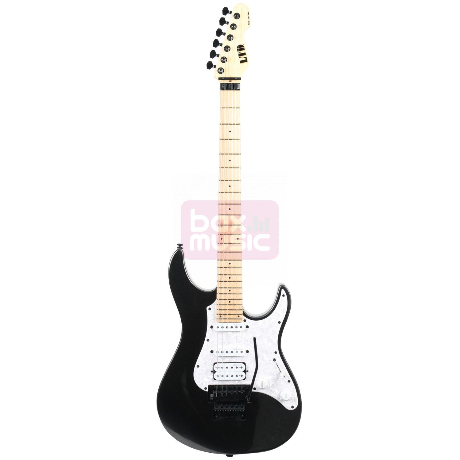 ESP LTD SN-200FR Maple Charcoal Metallic elektrische gitaar