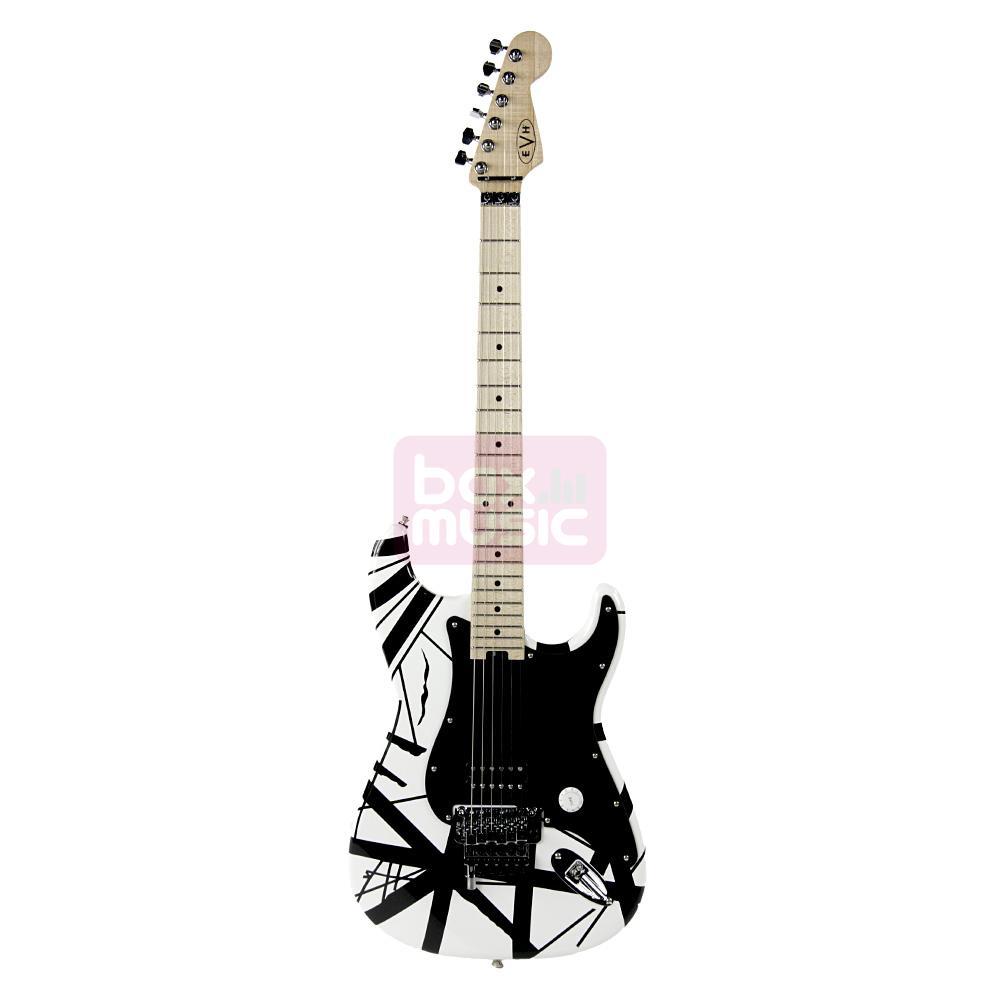 EVH Striped Serie elektrische gitaar wit-zwart