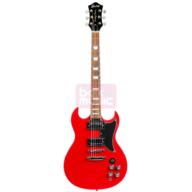 Fazley FSG400DR elektrische gitaar rood