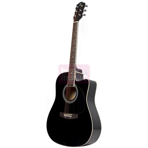 Fazley W50CBK akoestische westerngitaar zwart