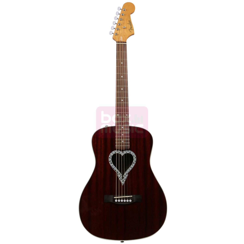 Fender Alkaline Trio Malibu akoestische western gitaar mahonie
