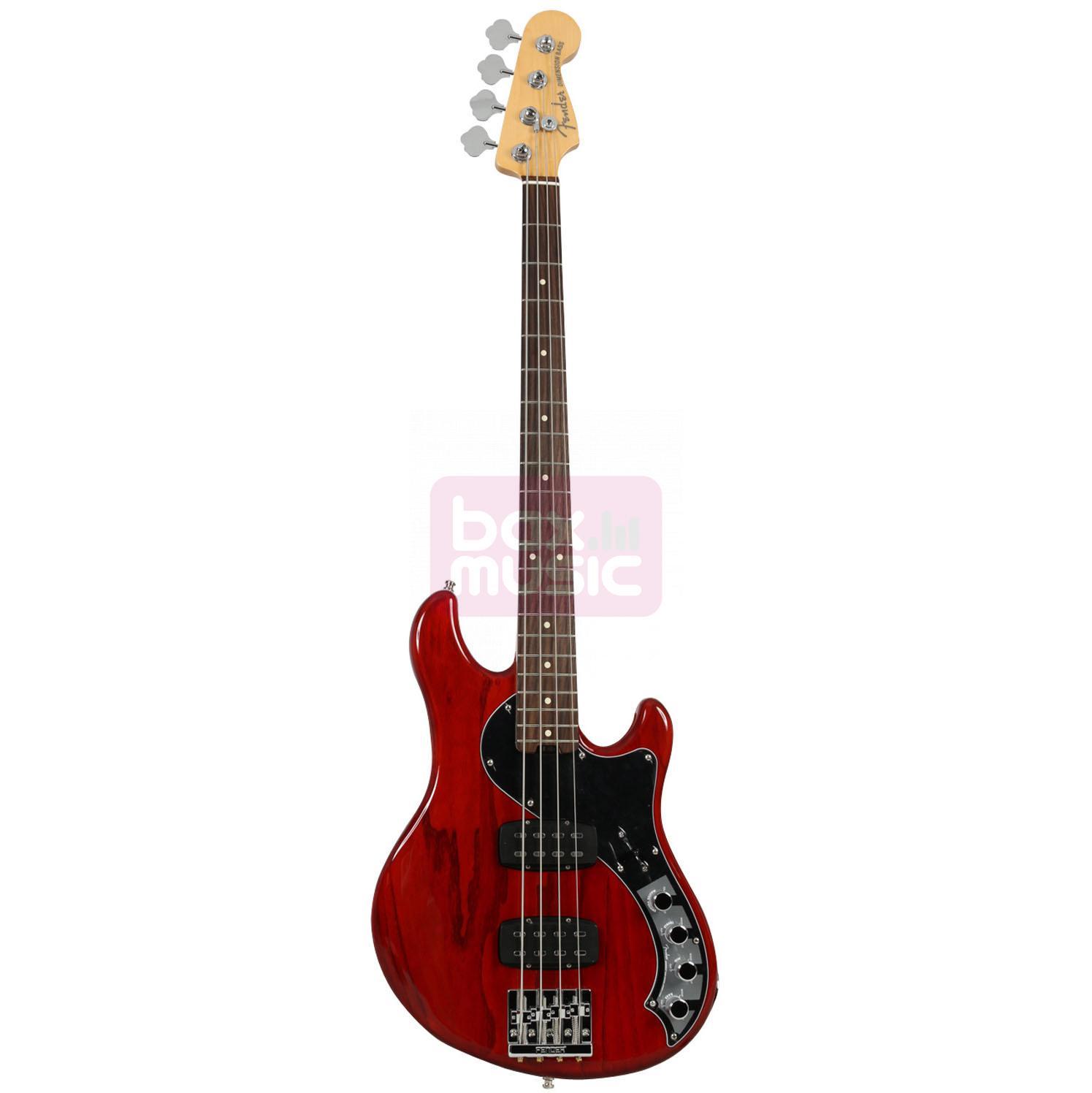 Fender American Elite Dimension Bass IV HH RW Cayenne