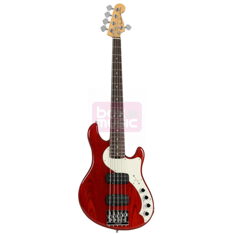 Fender American Elite Dimension Bass V HH Cayenne RW