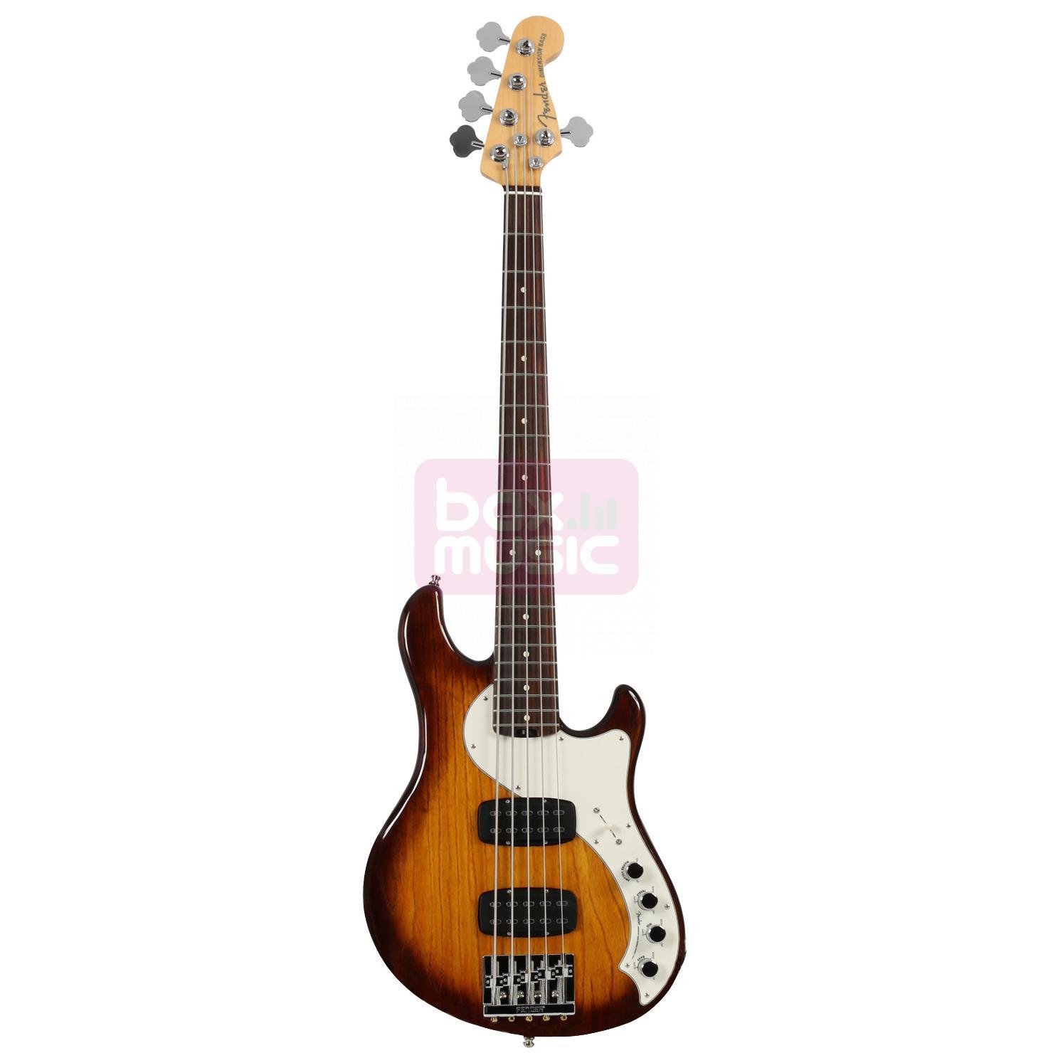 Fender American Elite Dimension Bass V HH Violin Burst RW