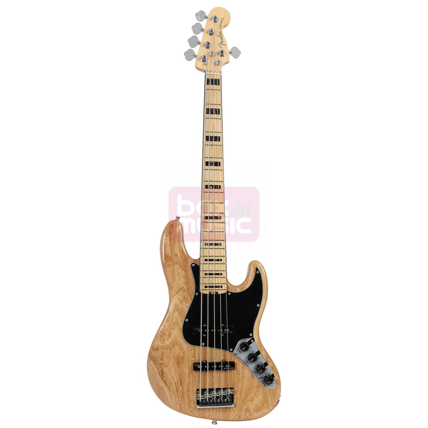 Fender American Elite Jazz Bass V Ash Natural MN