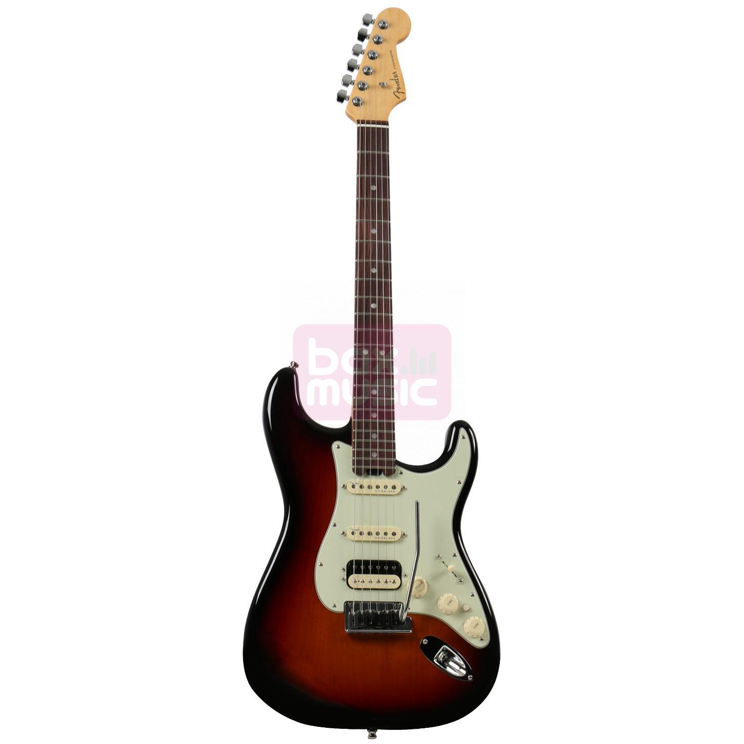 Fender American Elite Strat HSS Shawbucker 3-Tone Sunburst RW