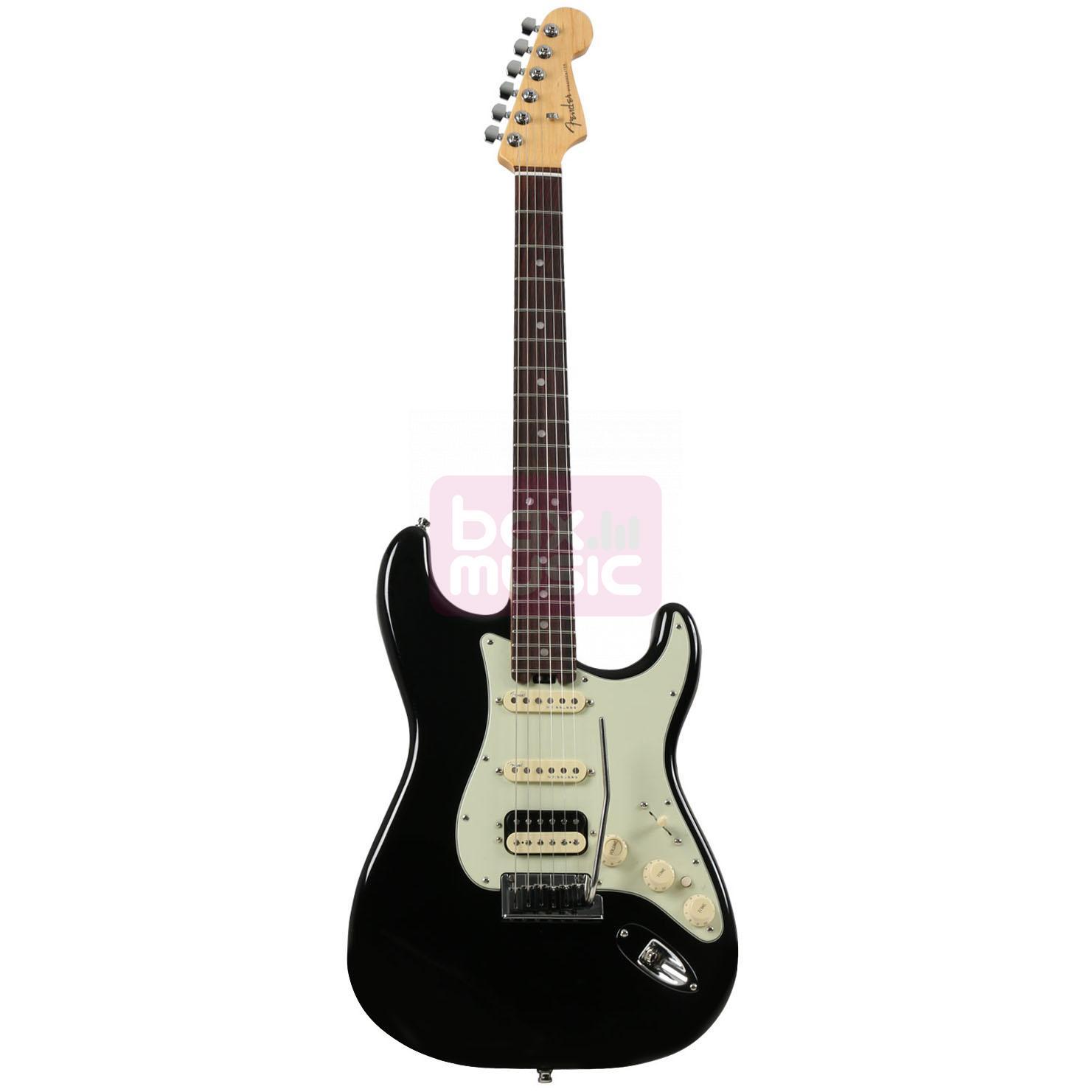 Fender American Elite Strat HSS Shawbucker Mystic Black RW