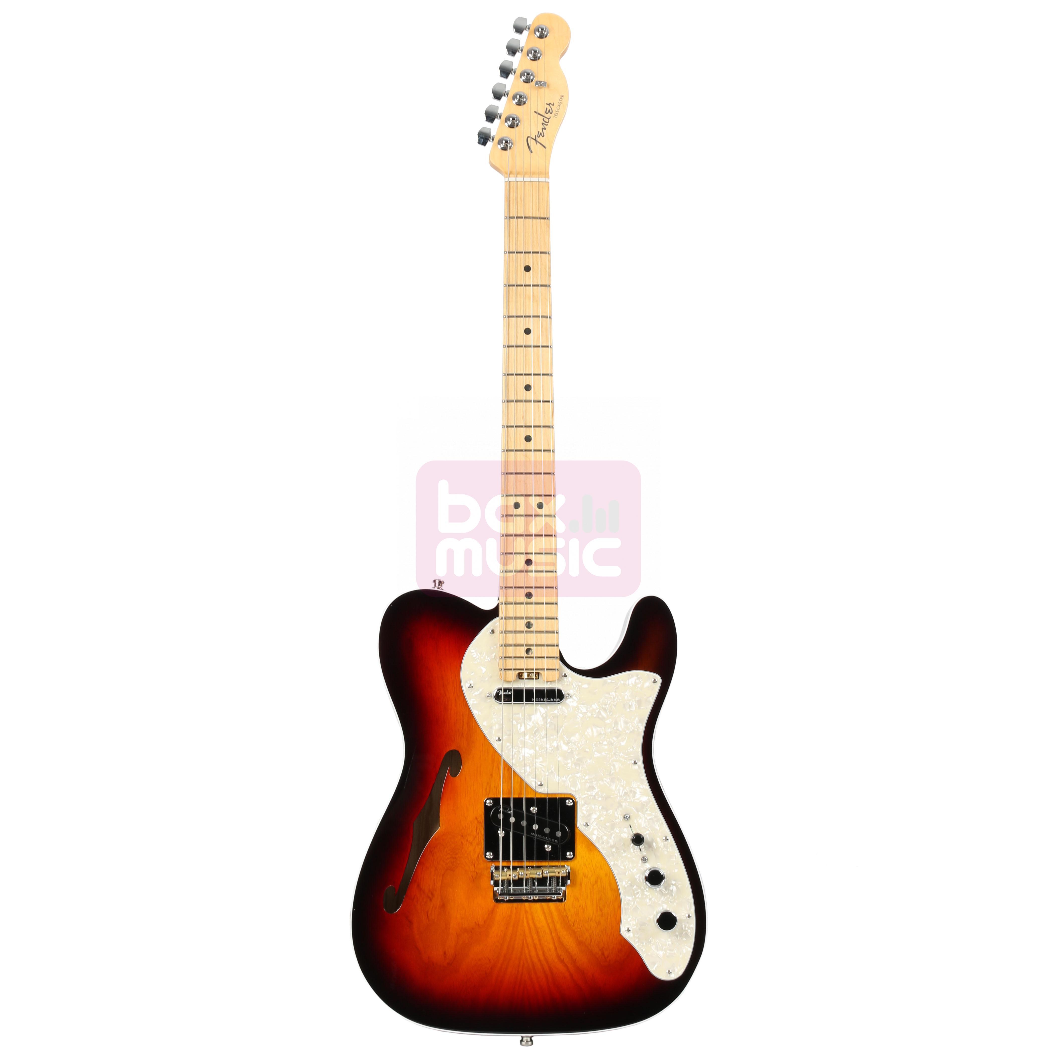 Fender American Elite Telecaster Thinline 3-Tone Sunburst MN