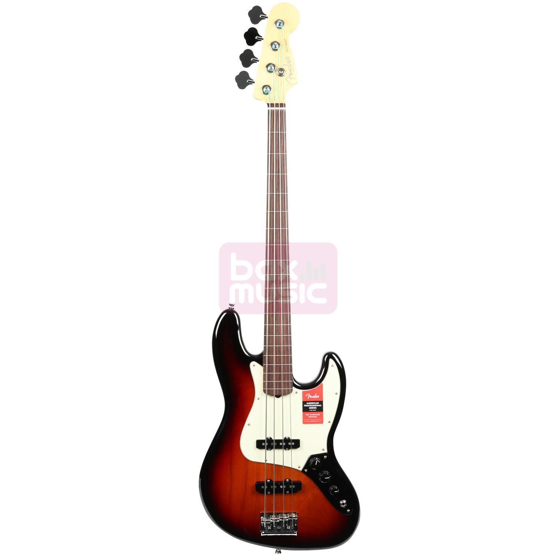 Fender American Pro Jazz Bass Fretless 3-Color Sunburst RW