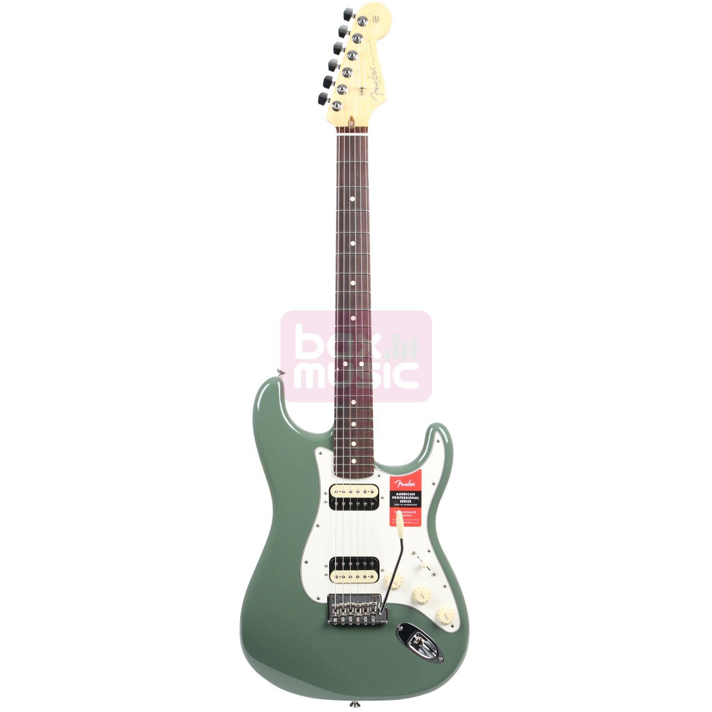 Fender American Pro Stratocaster HH Shawbucker Antique Olive RW