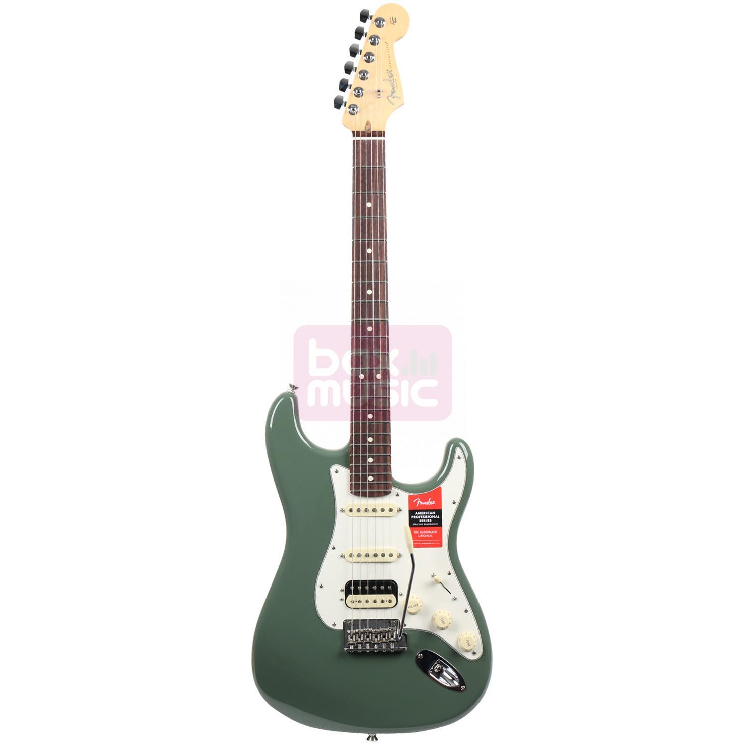 Fender American Pro Stratocaster HSS Shawbucker Antique Olive RW