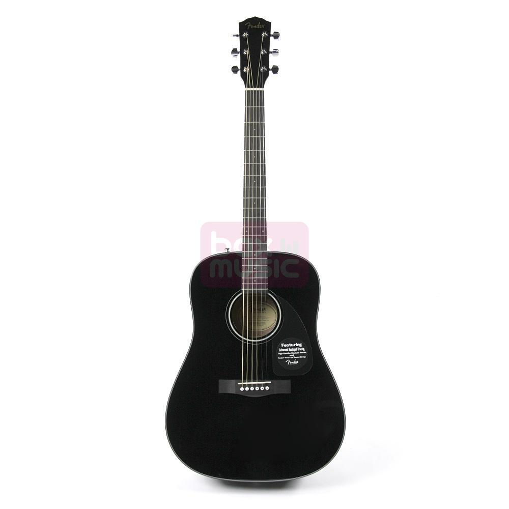 Fender CD-60 BK Black v2 western gitaar