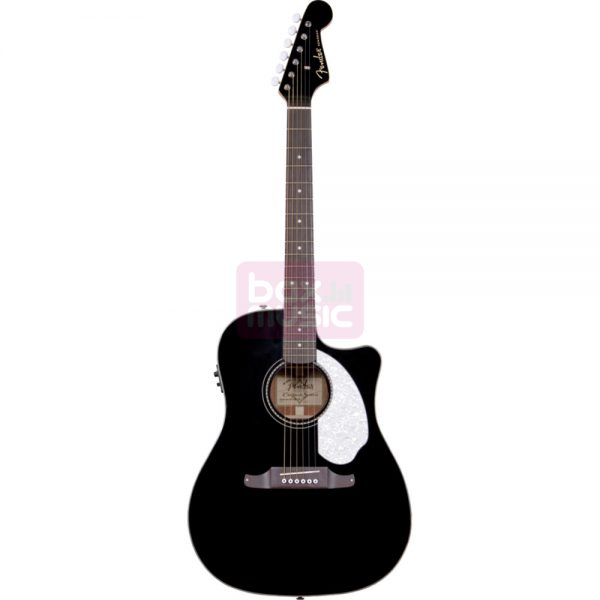 Fender Sonoran SCE Black v2 elektrisch-akoestische westerngitaar