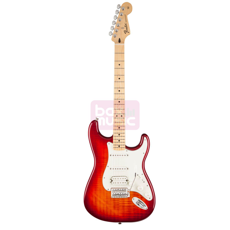Fender Standard Stratocaster HSS Plus Top MN Aged Cherry Burst