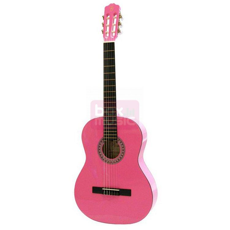 Gomez 001 4/4-model klassieke gitaar roze