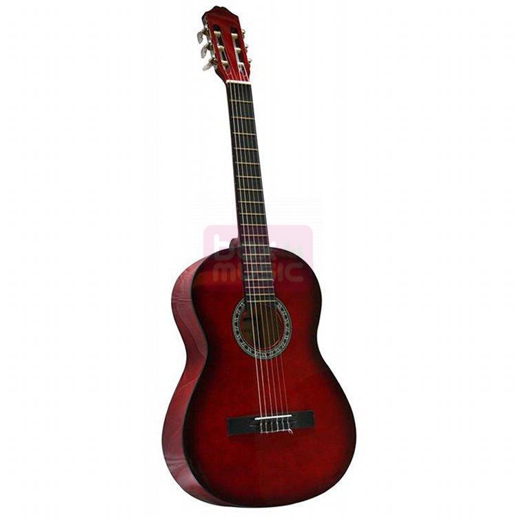 Gomez 001 4/4-model klassieke gitaar winered sunburst