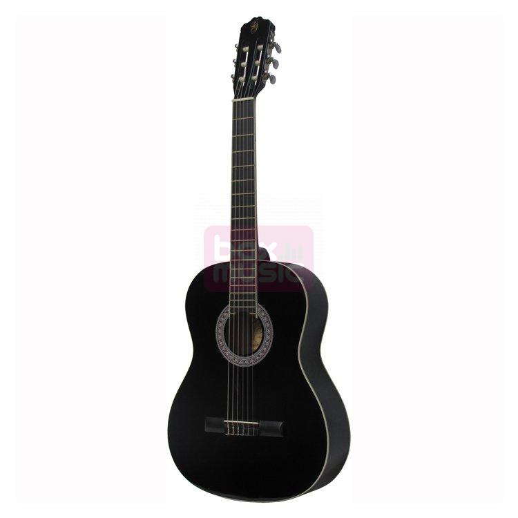 Gomez 001 4/4-model klassieke gitaar zwart
