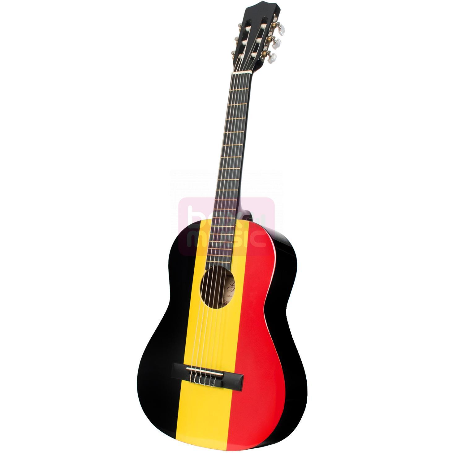 Gomez 036 3/4-model klassieke gitaar Belgische vlag