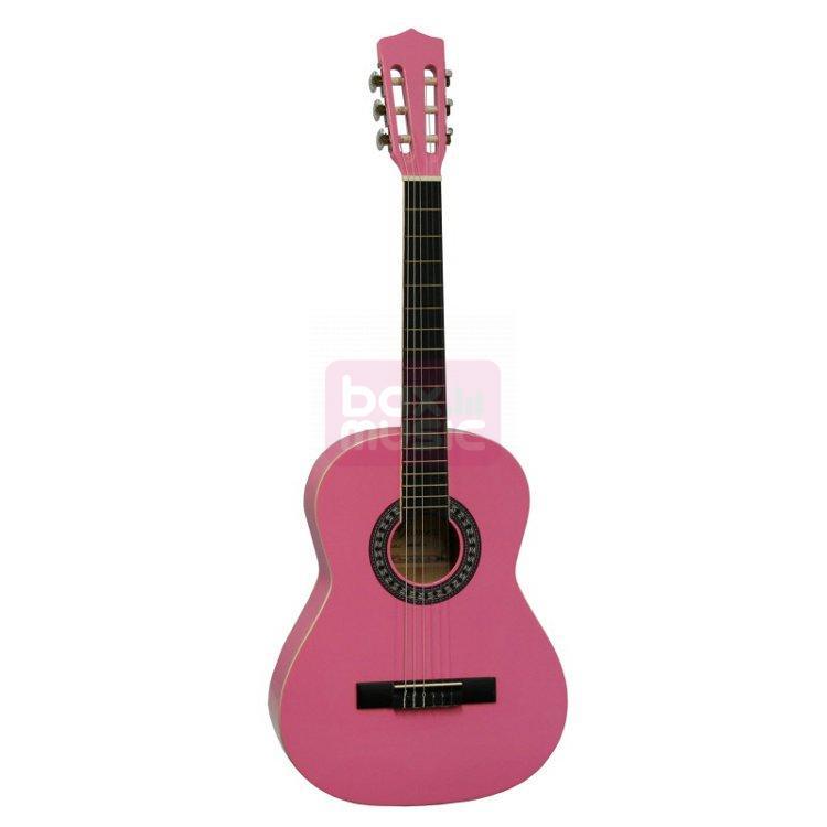 Gomez 036 3/4-model klassieke gitaar roze