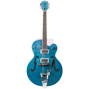 Gretsch G6120SH Brian Setzer Hot Rod Harbor Blue 2-Tone Flame