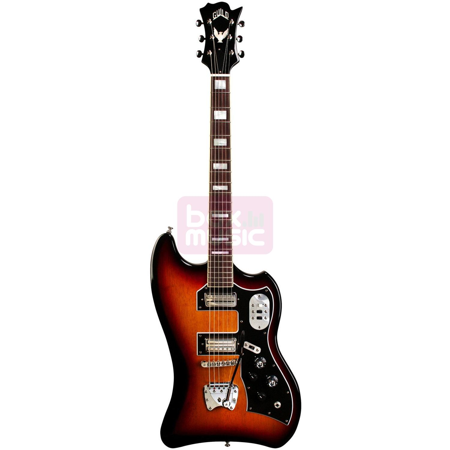 Guild S-200 T-Bird Antique Burst met gigbag
