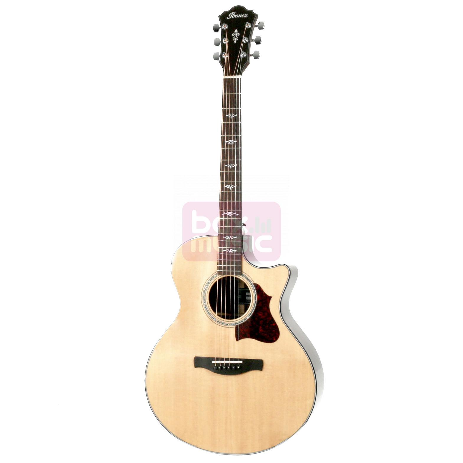 Ibanez AE500 Natural High Gloss met koffer