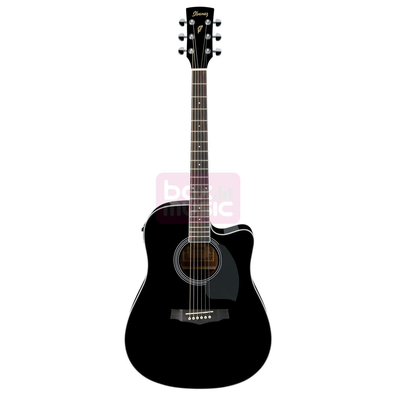 Ibanez PF15ECE-BK Black elektrisch-akoestische western gitaar