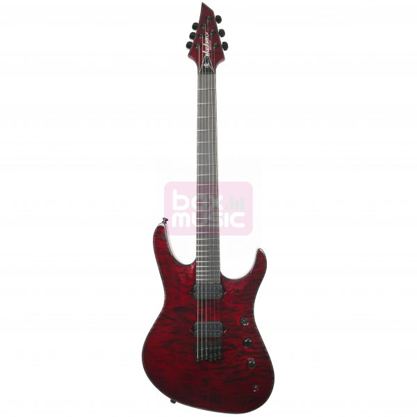 Jackson Chris Broderick Soloist HT6 Transparant Red EB