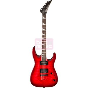 Jackson JS32TQ Dinky Arch Top Transparent Red