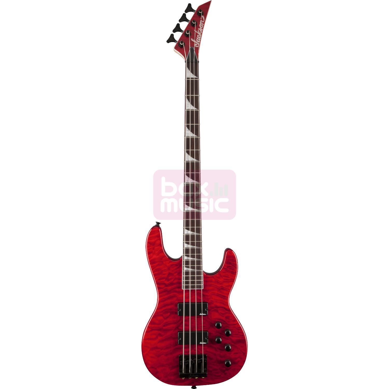Jackson JS3QM Concert Bass elektrische basgitaar rood