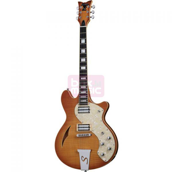Schecter TS/H-1 Classic Vintage Natural Burst elektrische gitaar