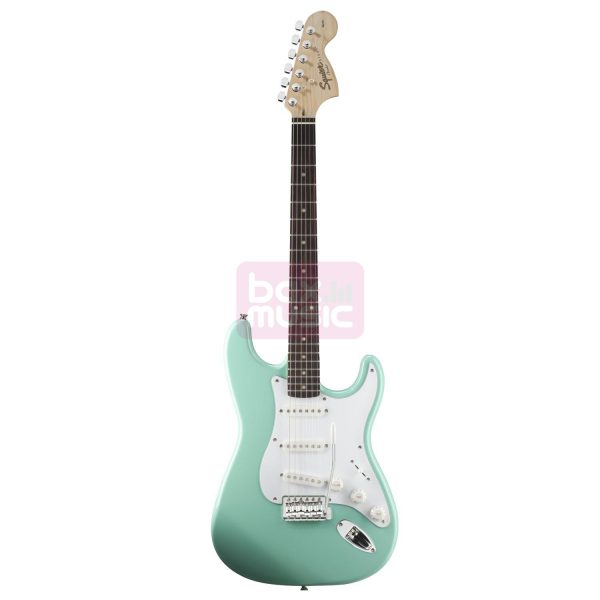 Squier Affinity Stratocaster RW Surf Green gitaar