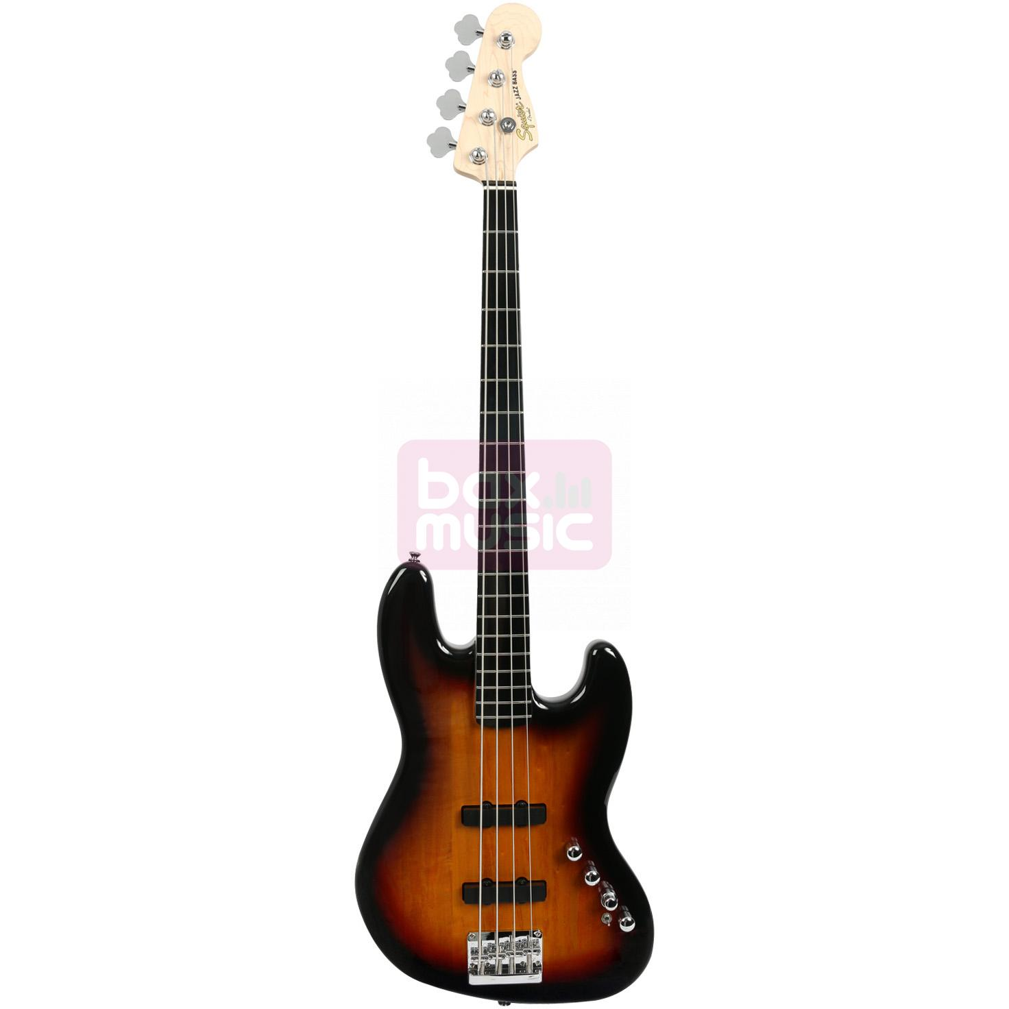Squier Deluxe Jazz Bass IV Active 3-Color Sunburst EB
