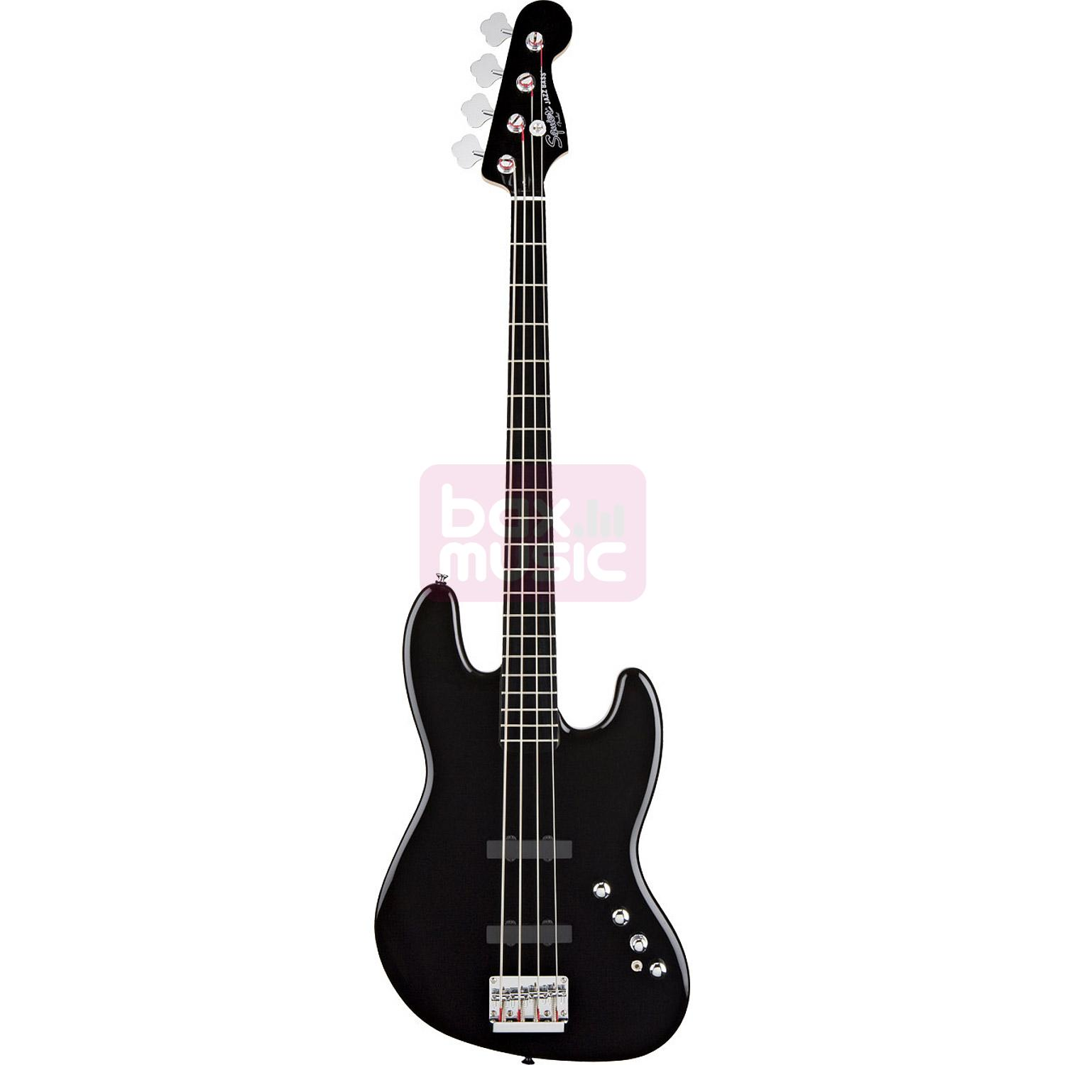 Squier Deluxe Jazz Bass IV Active Black EB