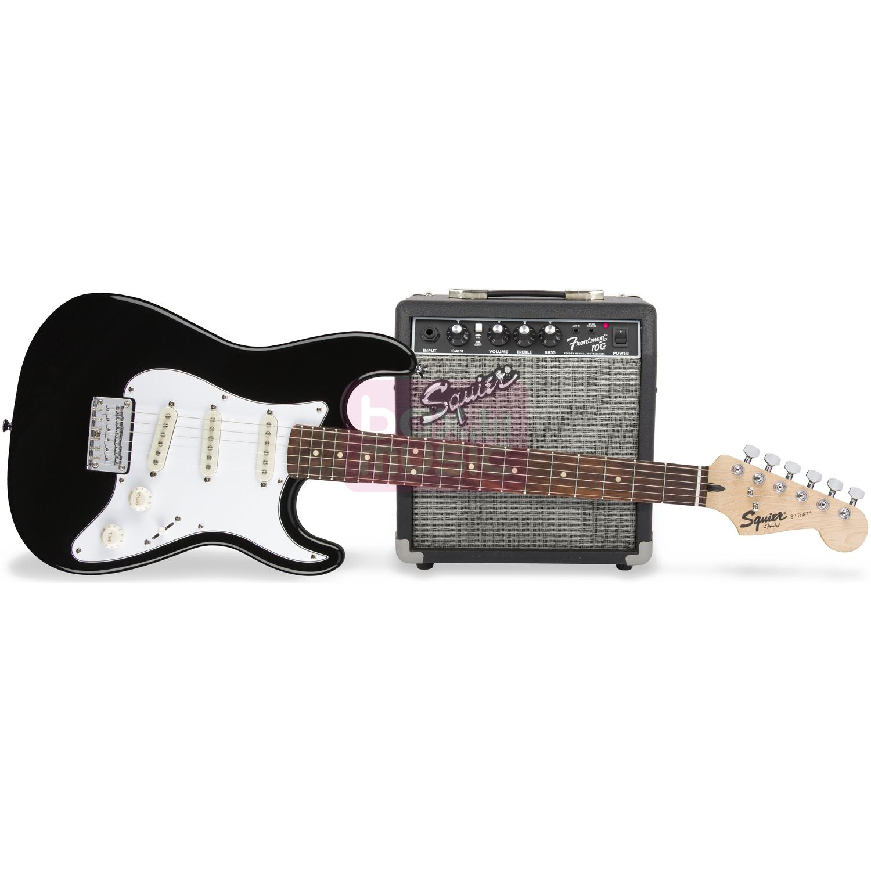Squier Strat Pack SSS Black elektrische gitaarset