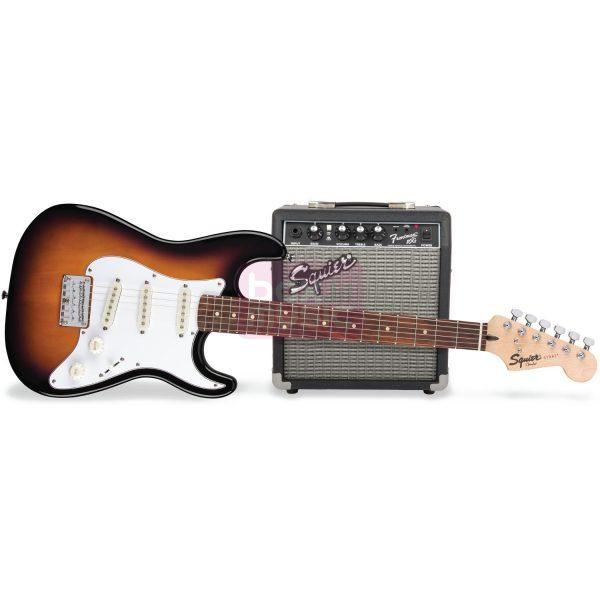 Squier Strat Pack SSS Brown Sunburst elektrische gitaarset
