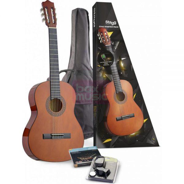 Stagg C542 klassieke gitaar pakket naturel