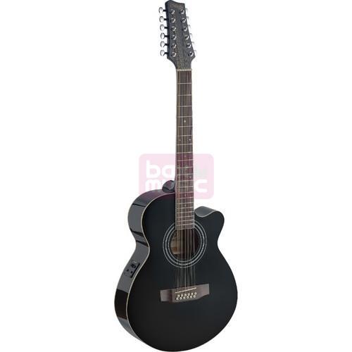 Stagg SA40MJCFI/12-BK elektrisch akoestische gitaar
