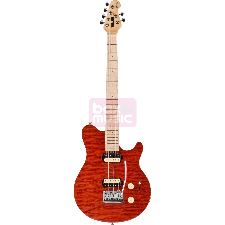 Sterling by Music Man SUB AX3 Trans Red elektrische gitaar