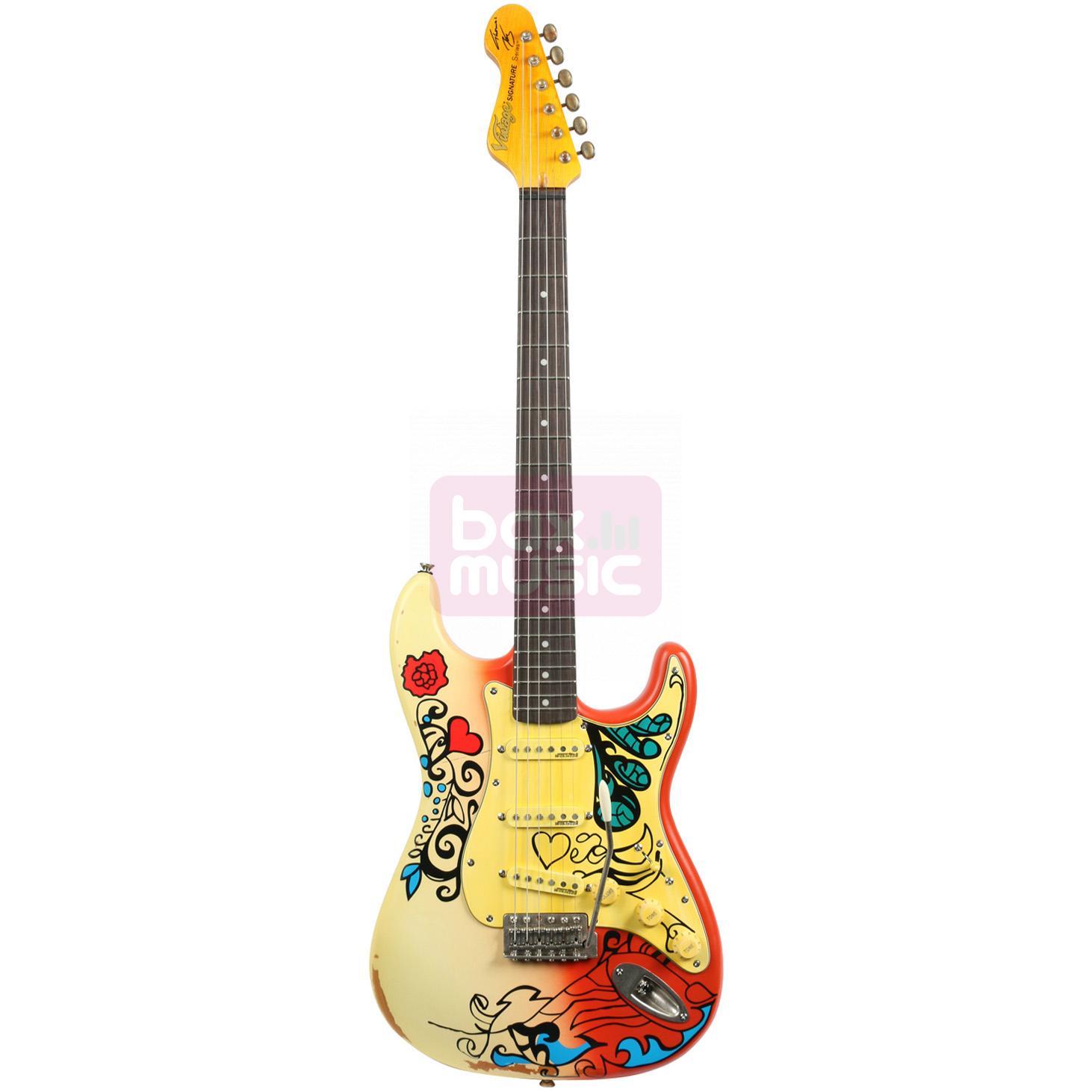 Vintage V6MRHDX Thomas Blug Summer of Love elektrische gitaar