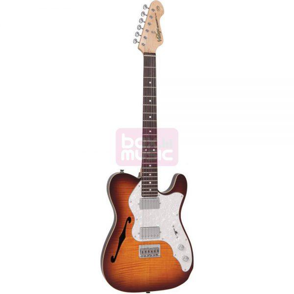Vintage V72HFTB Flamed Tobacco Burst elektrische gitaar