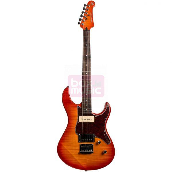 Yamaha Pacifica 611HFM elektrische gitaar amber sunburst